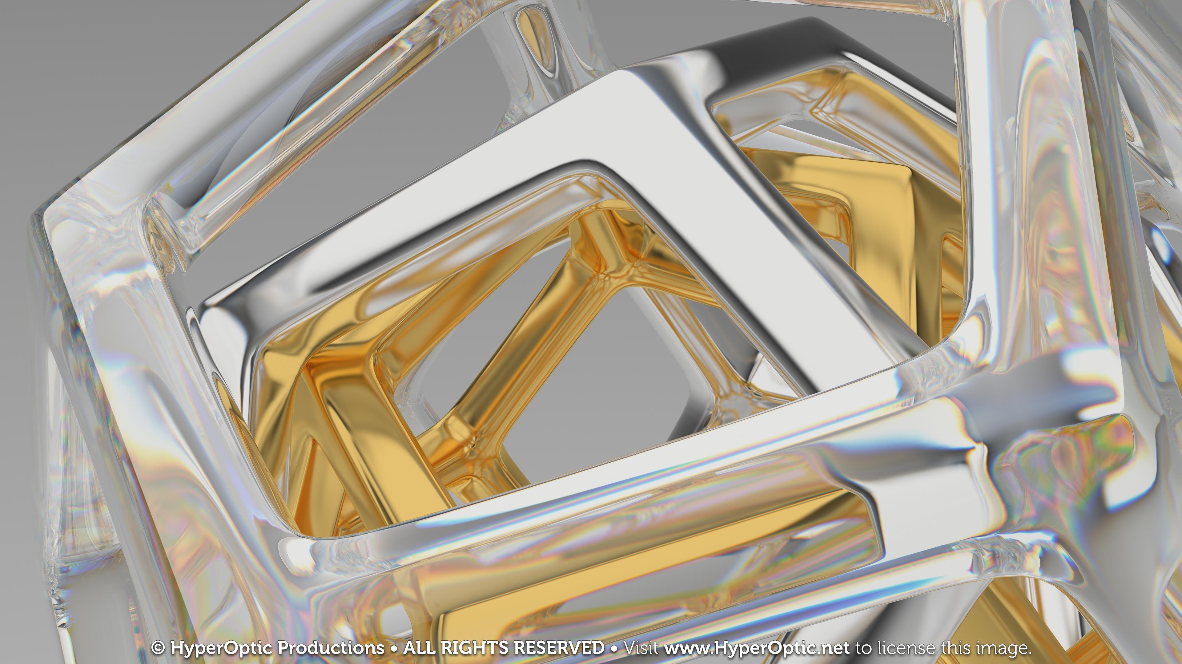 Crystal-Platinum-Gold-Dodecahedrons-4K
