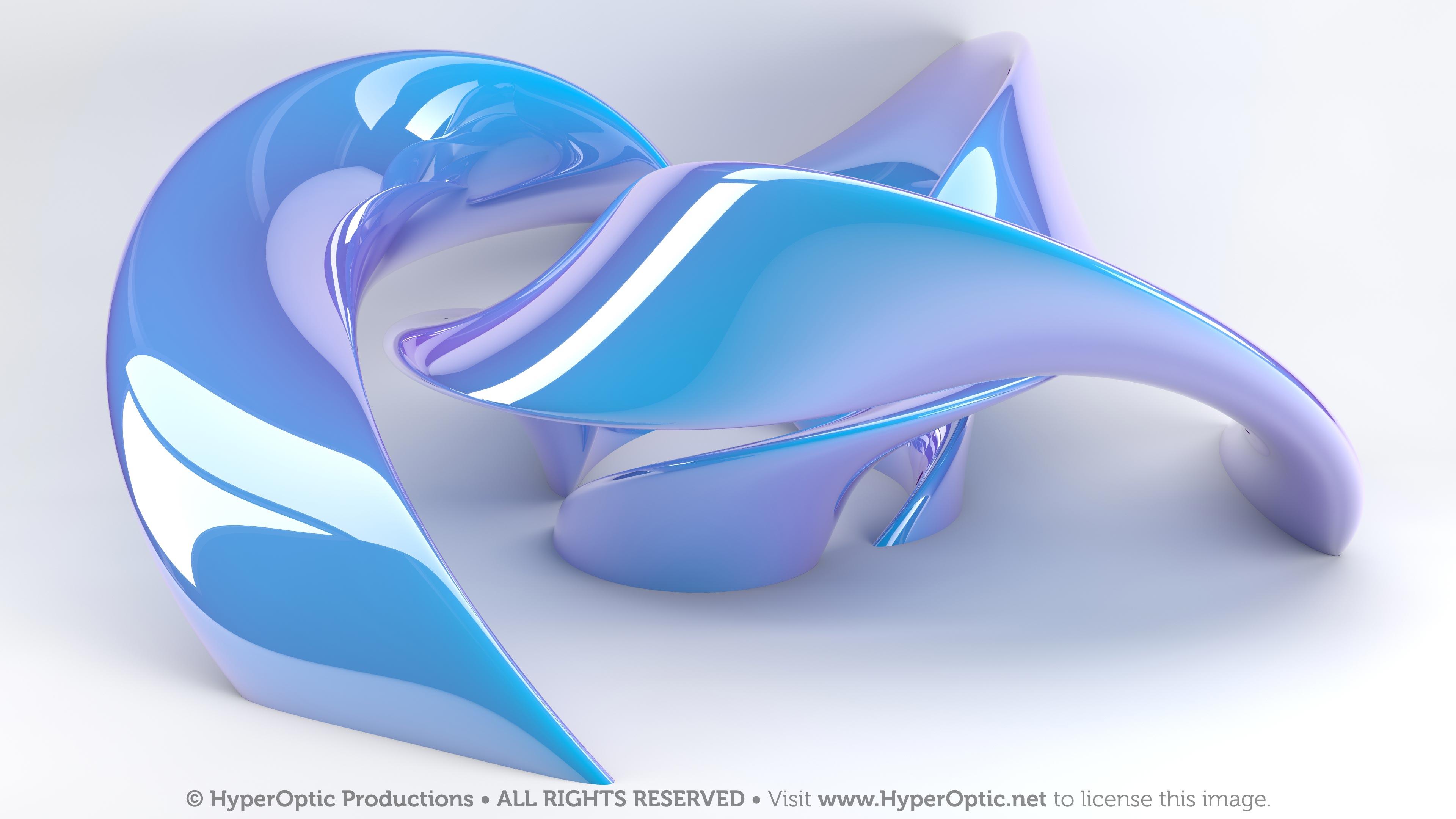 Twisty-Blue-Torus-in-the-Studio-4K